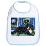 BERNESE MOUNTAIN DOG Art! Bib