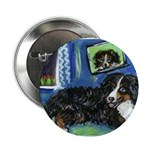 BERNESE MOUNTAIN DOG Art! Button
