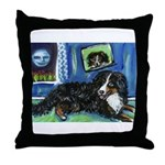 BERNESE MOUNTAIN DOG Art! Throw Pillow