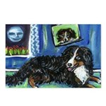 BERNESE MOUNTAIN DOG Art! Postcards (Package of 8)