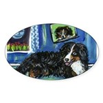 BERNESE MOUNTAIN DOG Art! Oval Sticker