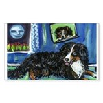 BERNESE MOUNTAIN DOG Art! Rectangle Sticker
