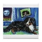 BERNESE MOUNTAIN DOG Art! Tile Coaster