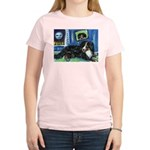 BERNESE MOUNTAIN DOG Art! Women's Pink T-Shirt