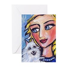 ESKIE w Blond Lady Greeting Cards (Pk of 10)