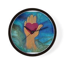 Heart in Hand Wall Clock