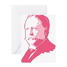 Pink President Taft Greeting Card