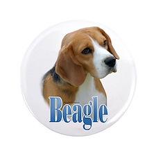 """Beagle Name 3.5"""" Button"""