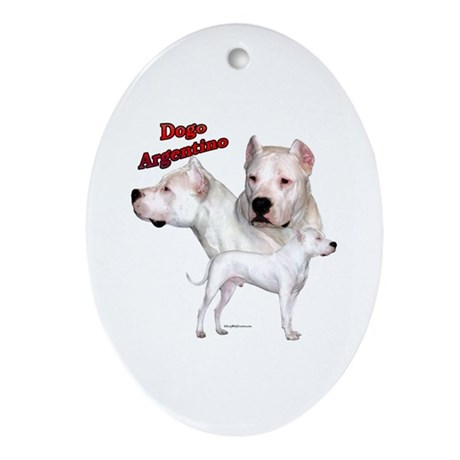 Dogo Trio2 Oval Ornament