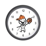 Boy & Basketball Wall Clock