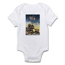 Iwo Jima Flag Raising Infant Bodysuit