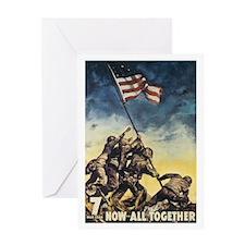 Iwo Jima Flag Raising Greeting Card
