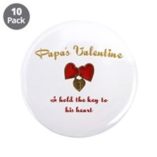 "Papa's Valentine 3.5"" Button (10 pack)"