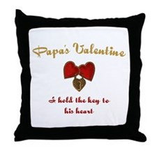 Papa's Valentine Throw Pillow
