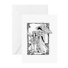 Angels With Book Greeting Cards (Pk of 10)