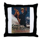 Cadet's Naval Aviation Throw Pillow