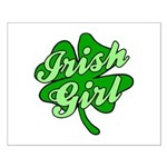 4 Leaf Clover Irish Girl Small Poster