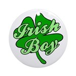 Irish Boy Ornament (Round)