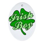 Irish Boy Oval Ornament
