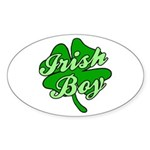Irish Boy Oval Sticker