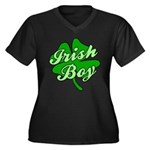 Irish Boy Women's Plus Size V-Neck Dark T-Shirt