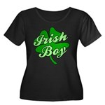 Irish Boy Women's Plus Size Scoop Neck Dark T-Shir