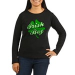 Irish Boy Women's Long Sleeve Dark T-Shirt