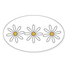 Daisies Oval Decal