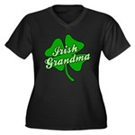 Irish Grandma Women's Plus Size V-Neck Dark T-Shir