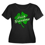 Irish Grandma Women's Plus Size Scoop Neck Dark T-