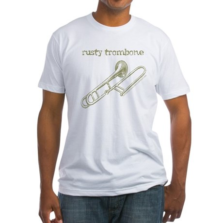 Rusty Trombone Fitted T-Shirt