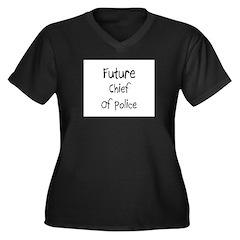 Future Chief Of Police Women's Plus Size V-Neck Da