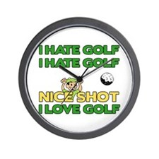 Golf Fun Wall Clock