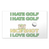 Golf Fun Rectangle Decal