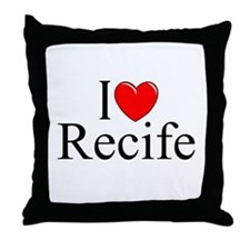 """I Love Recife"" Throw Pillow"
