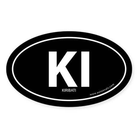 Kiribati country bumper sticker -Black (Oval)