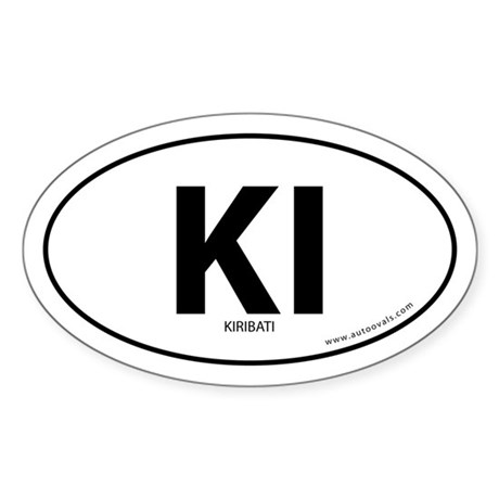 Kiribati country bumper sticker -White (Oval)