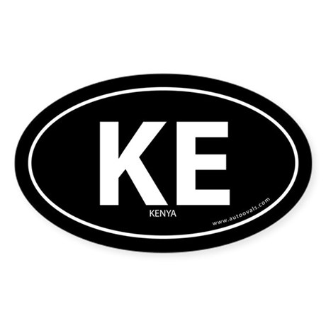 Kenya country bumper sticker -Black (Oval)