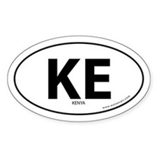 Kenya country bumper sticker -White (Oval)