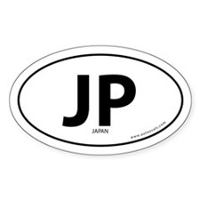 Japan country bumper sticker -White (Oval)