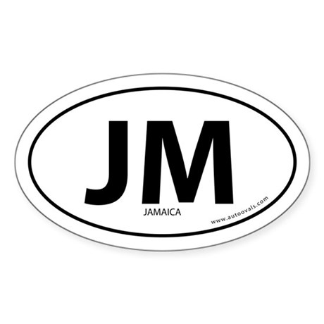 Jamaica country bumper sticker -White (Oval)