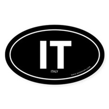 Italy country bumper sticker -Black (Oval)
