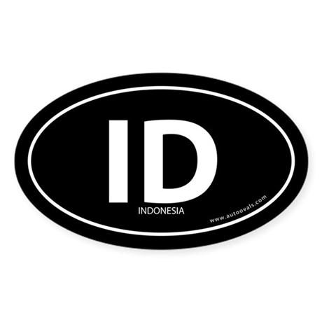 Indonesia country bumper sticker -Black (Oval)
