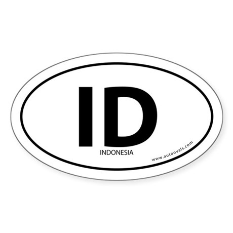 Indonesia country bumper sticker -White (Oval)
