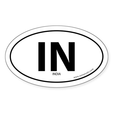 India country bumper sticker -White (Oval)