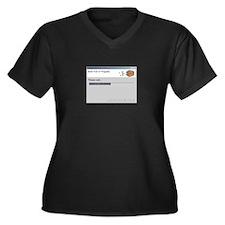 Brain Fart Women's Plus Size V-Neck Dark T-Shirt