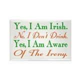 Ironic Sober Irish Rectangle Magnet