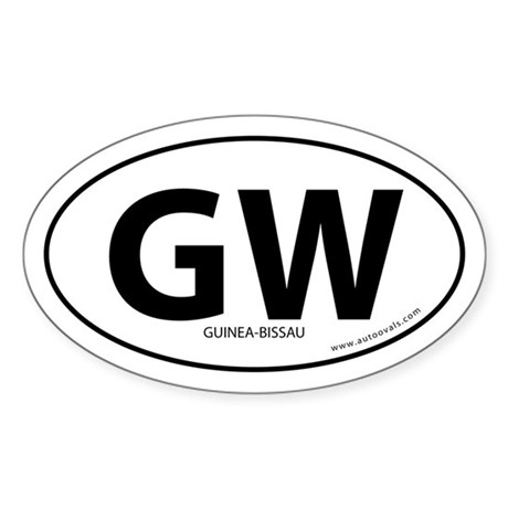 Guinea-Bissau country bumper sticker -White (Oval)