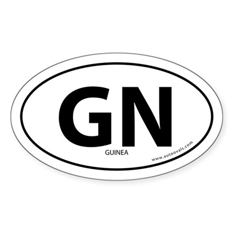 Guinea country bumper sticker -White (Oval)