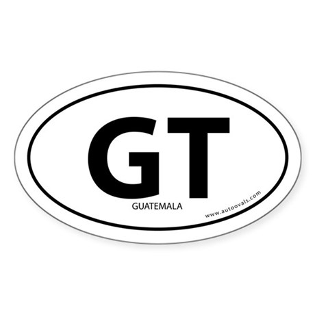 Guatemala country bumper sticker -White (Oval)